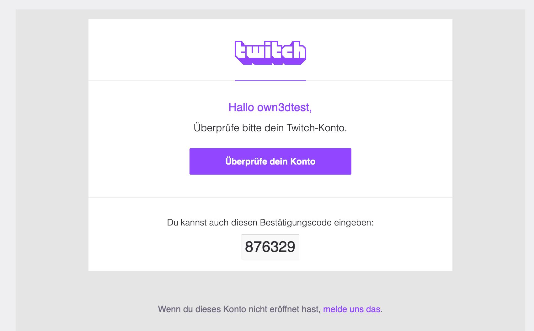 Código de verificación de Twitch